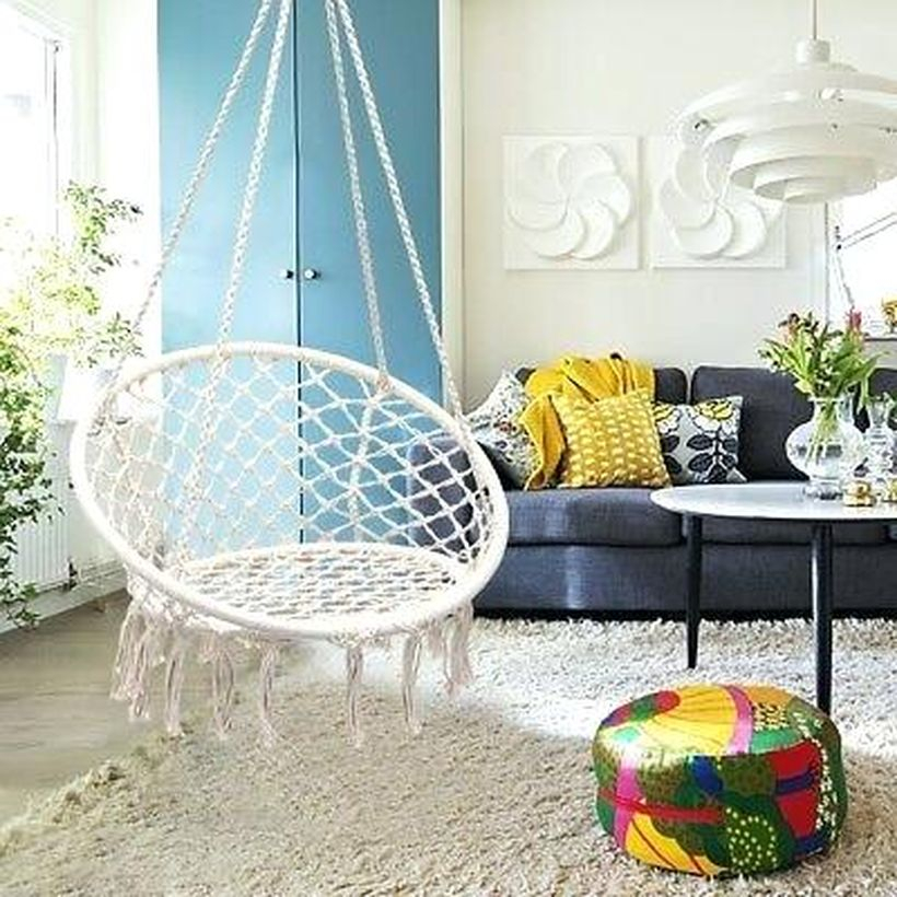 Macrame hammock chair patterns hanging.