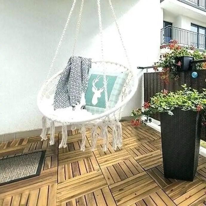Macrame swing chair pattern hanging.