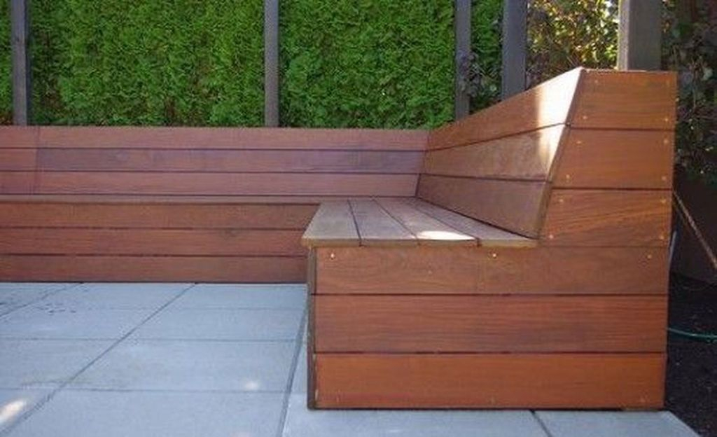 Wooden bench to complete your garden