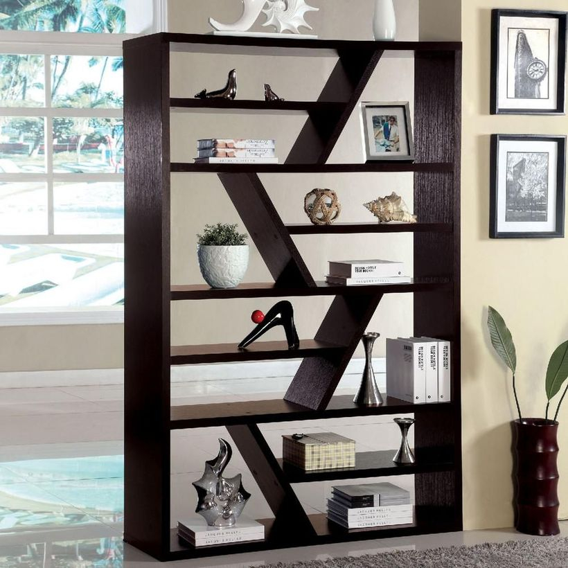 Awesome wooden bookshelves ideas