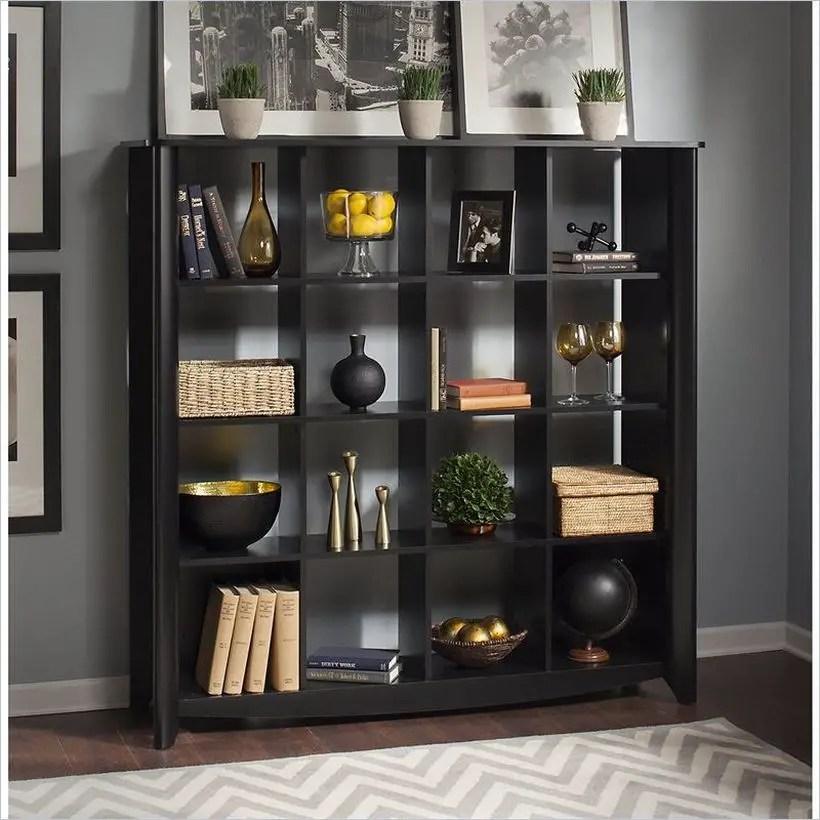 Black bookshelves ideas