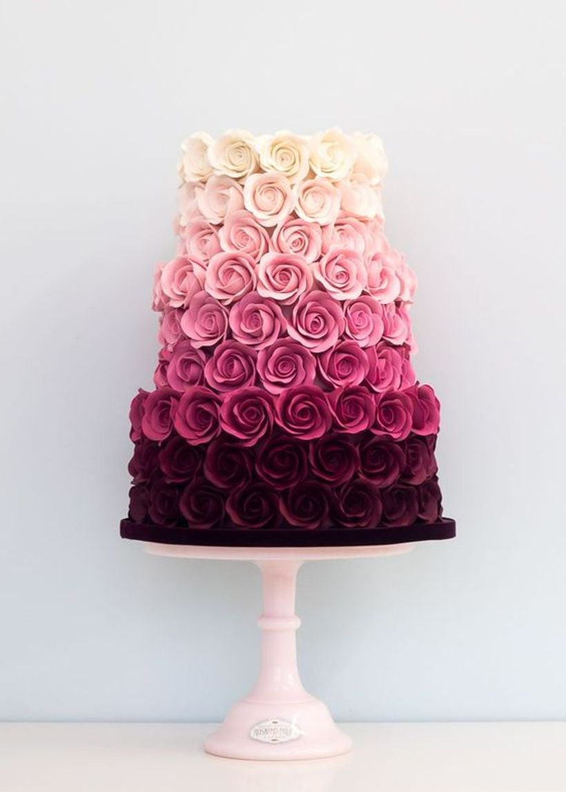 Cute cake birthday shaped flower white purple and black to celebrate a birthday