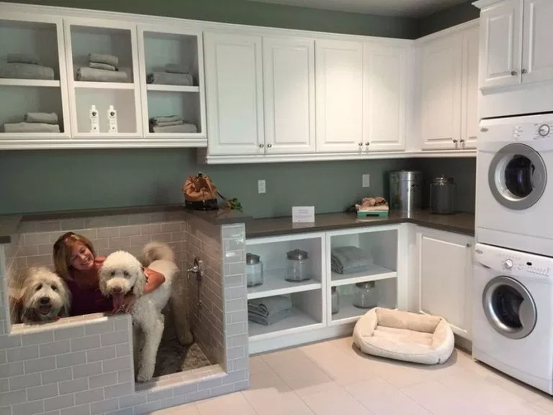 Dog house in laundry room for your pet