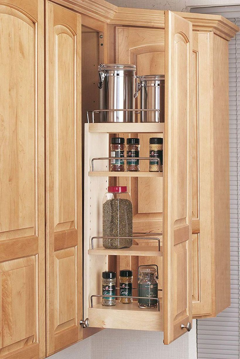 Simple diy spices organizer tiered with pull out cabinet organizer