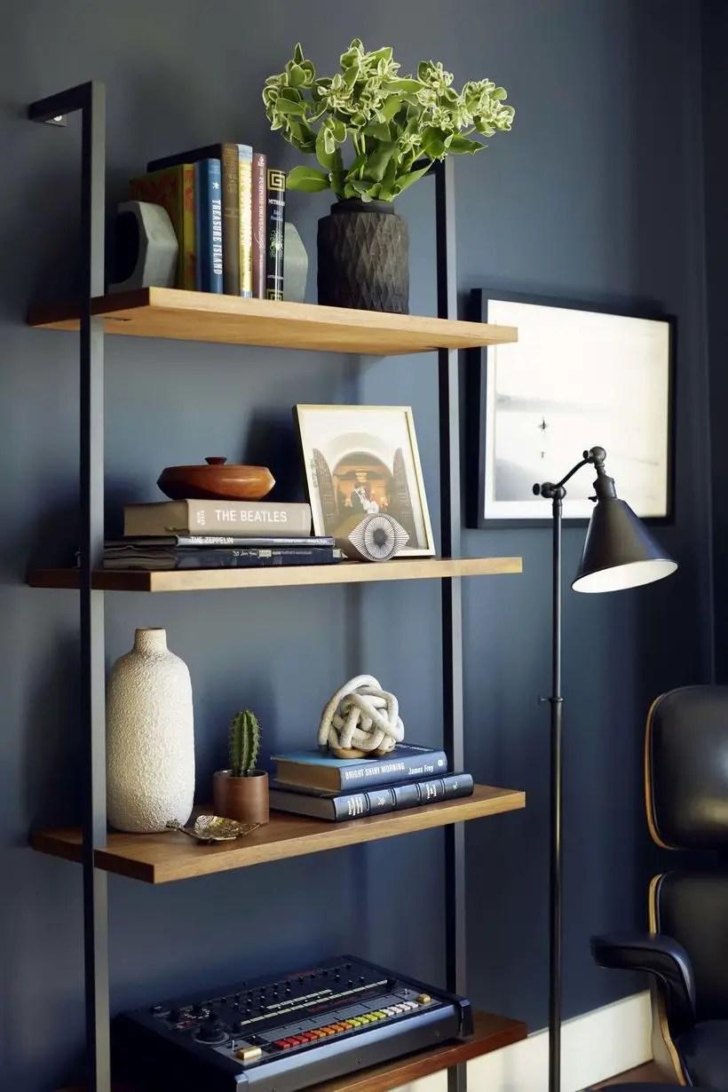 Simple iron bookshelves ideas