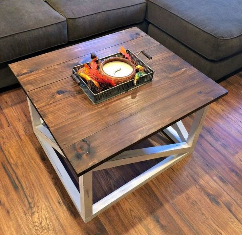 Simple square coffee table