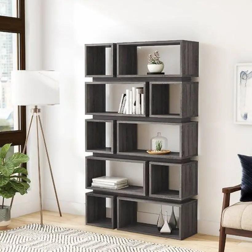 Small black bookshelves ideas