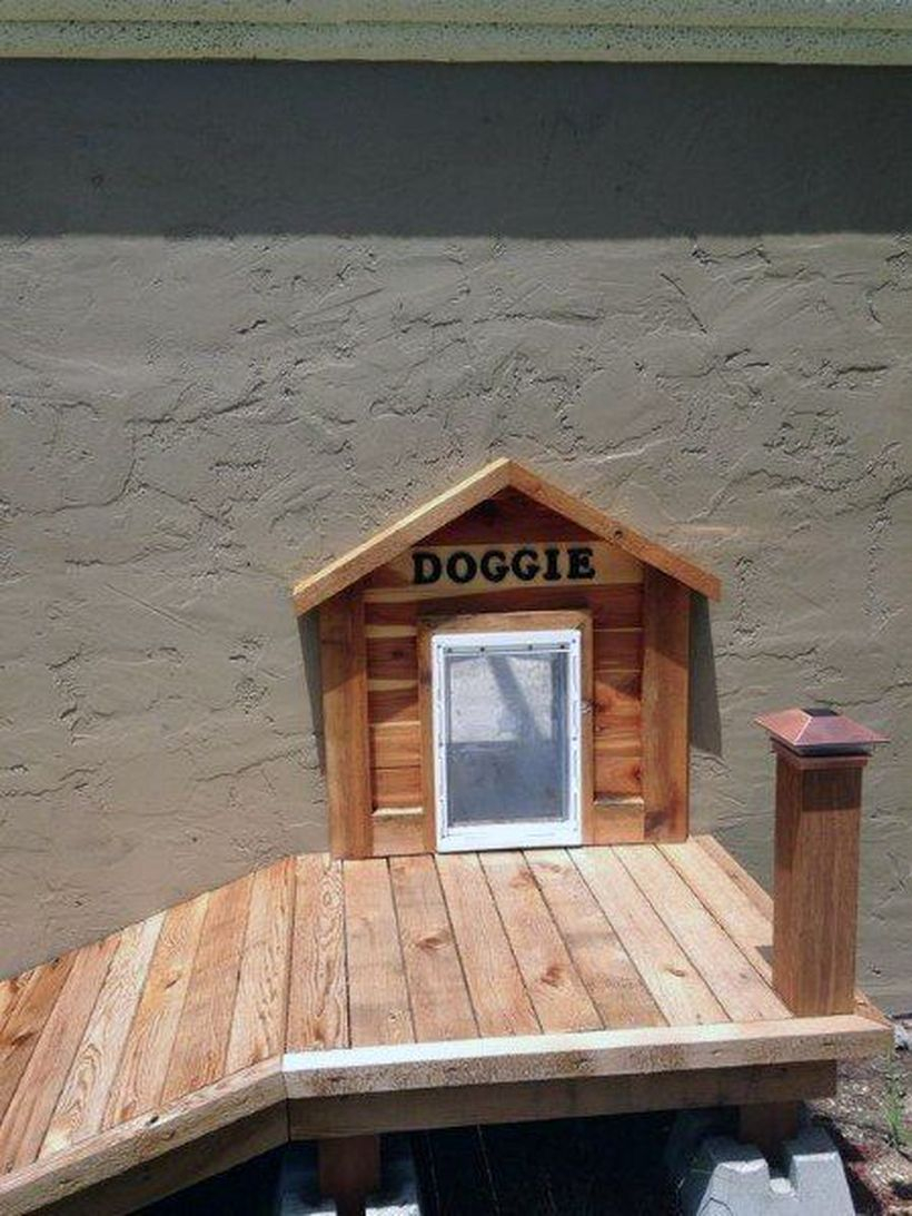 Small wooden pallet dog house