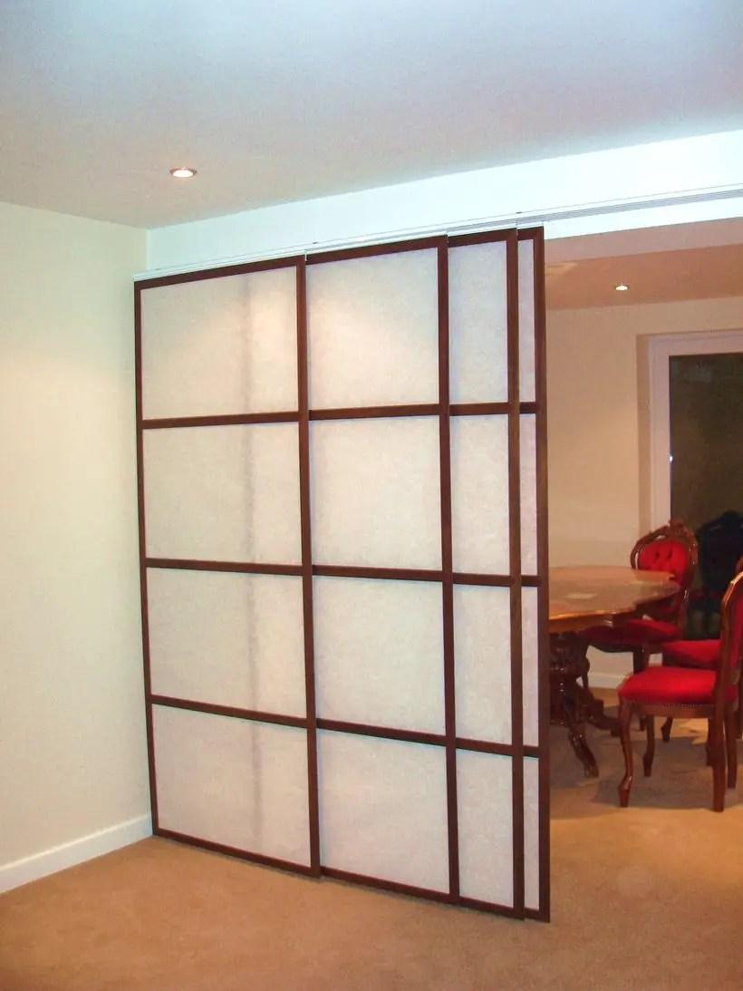 Square paper room divider
