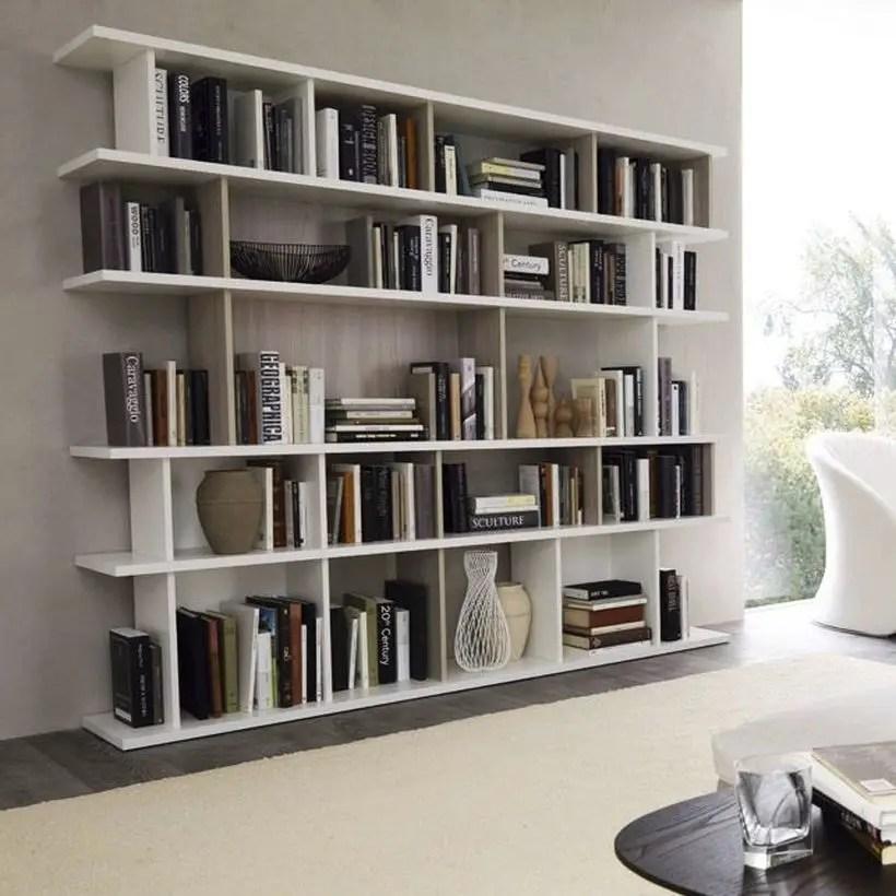 Stunning white bookshelves ideas