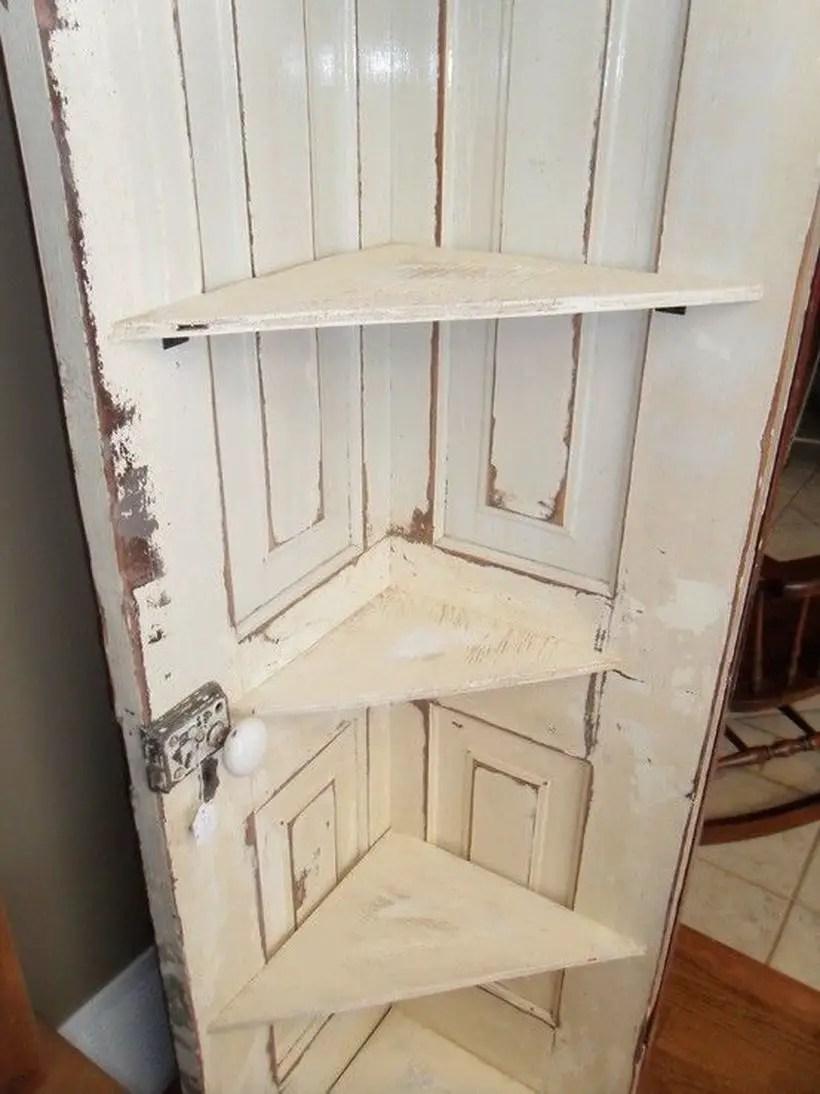 Tiered rack from remodel door