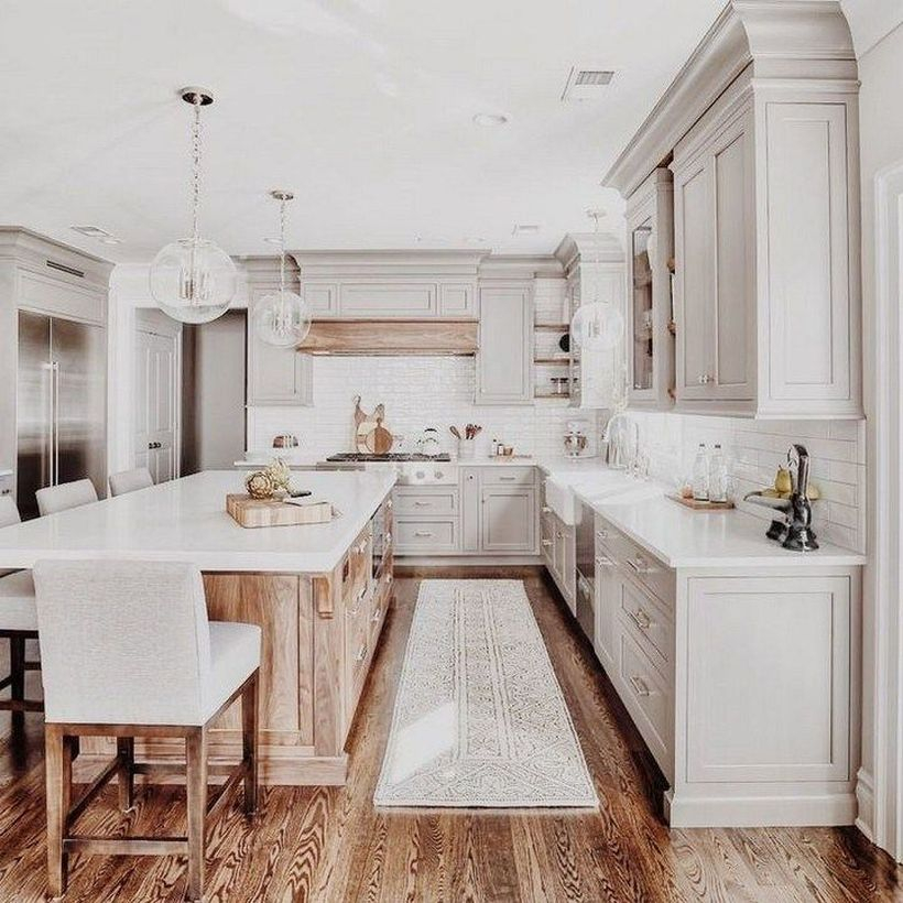 White marble countertop design on wooden cabinet