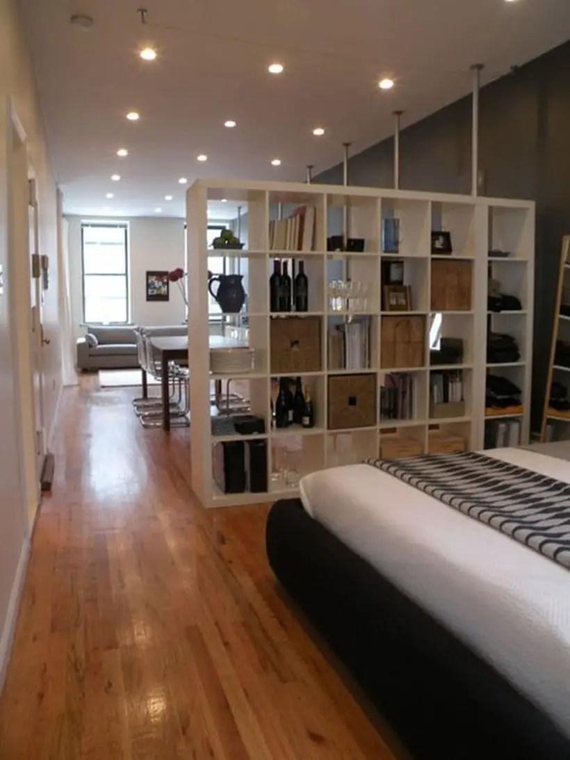 White storage room divider