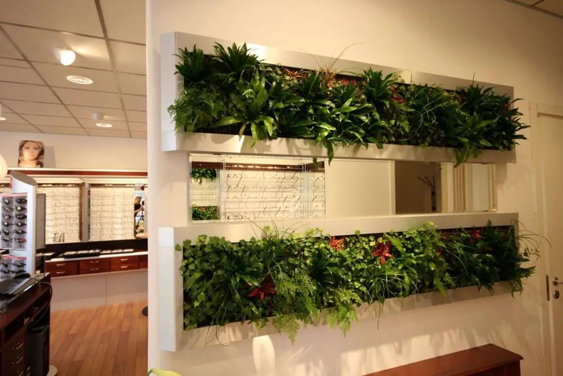 White vegetable room divider