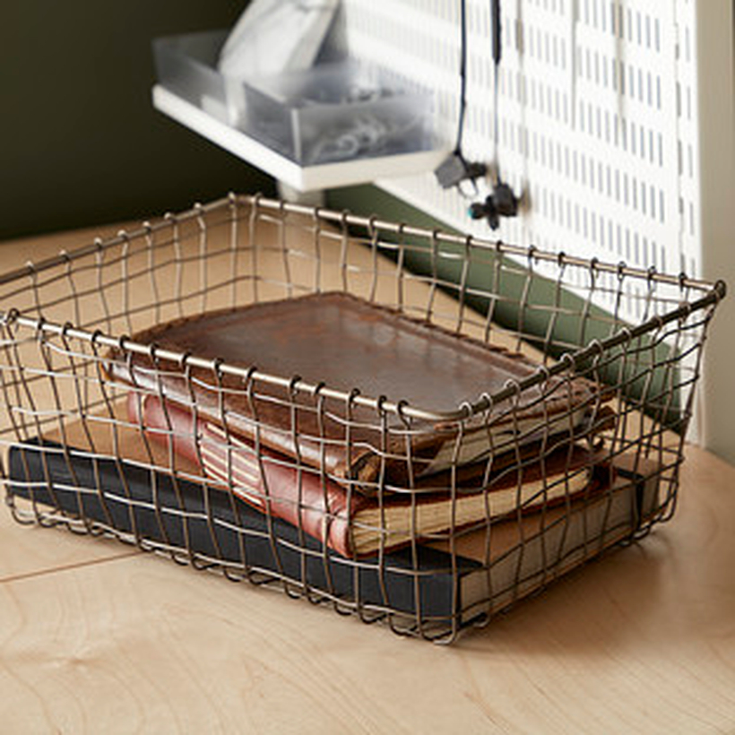 Wire basket to store basket