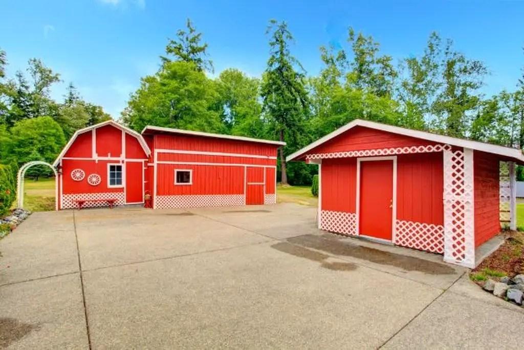 Classic farm storage sheds