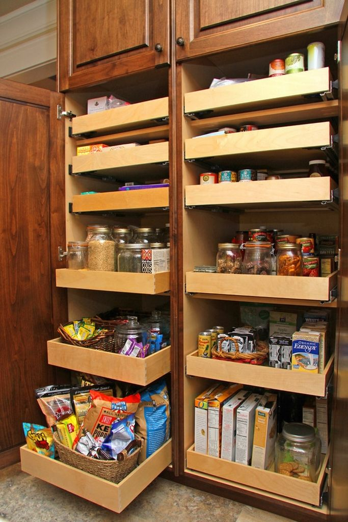 Kitchen-pantry-with-sliding-shelves
