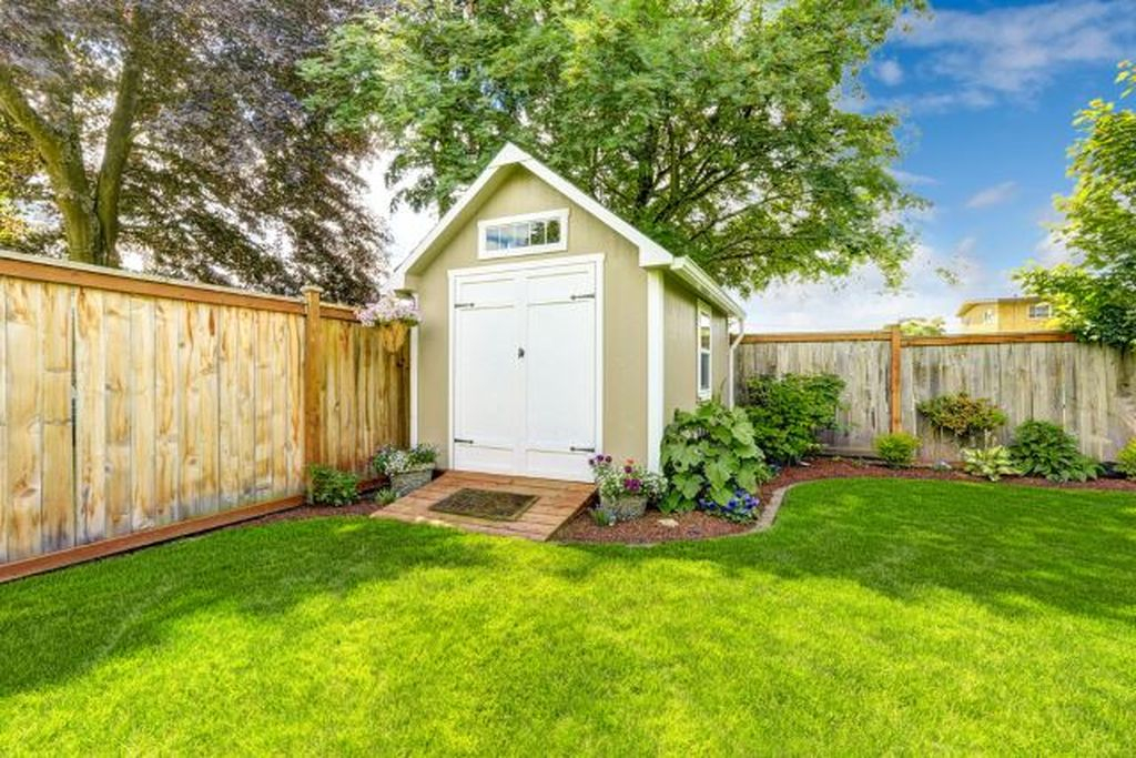 Modern small shed for garden