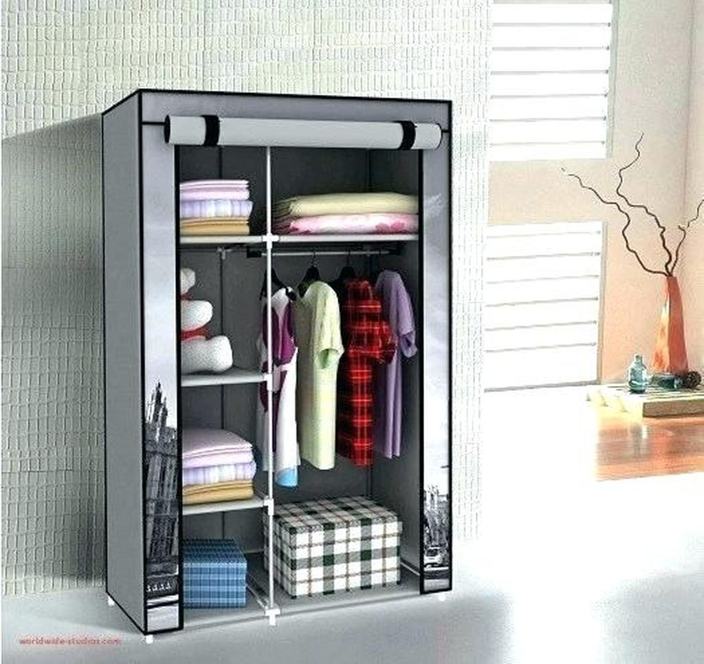 Perfect storage for small bedroom with small closet that an elegant to complete your storage decoration