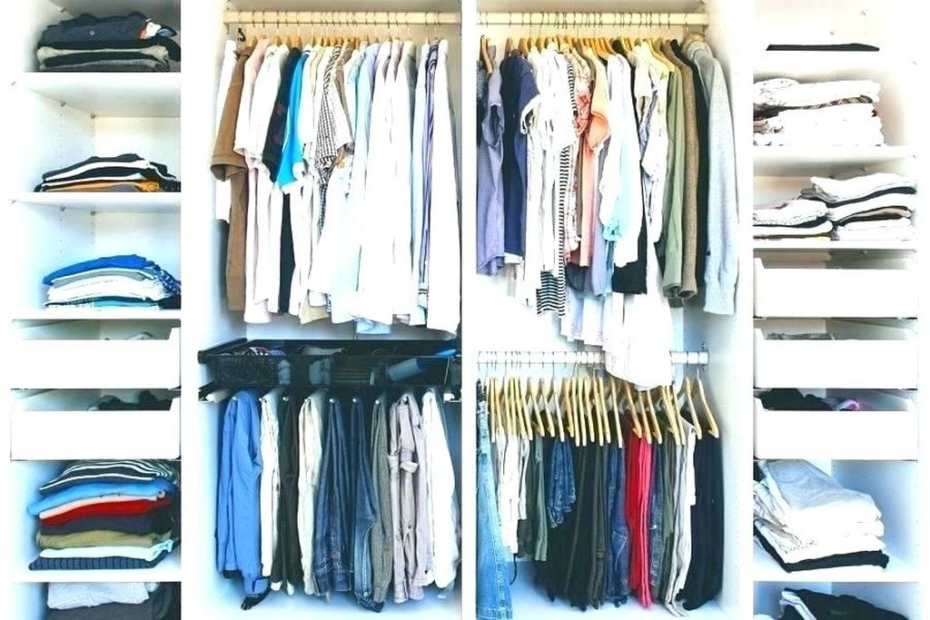Simple storage for small bedroom with rack and hook to store your clothes to be more neat