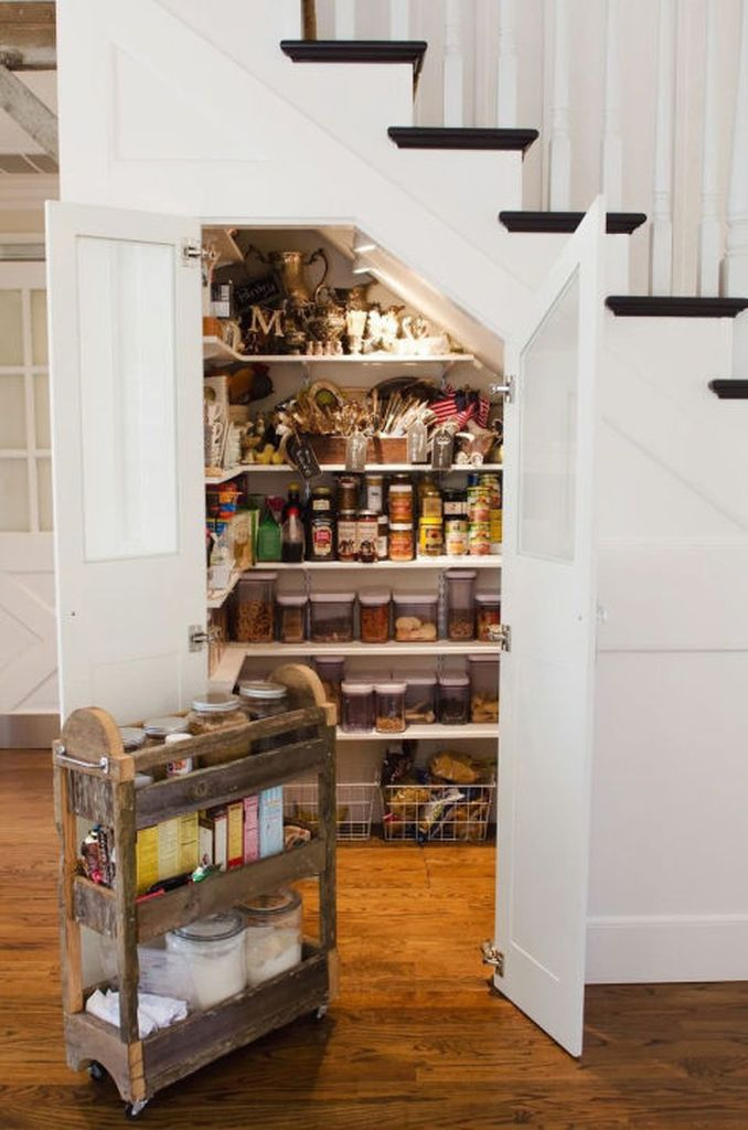 Small pantry under the stairs