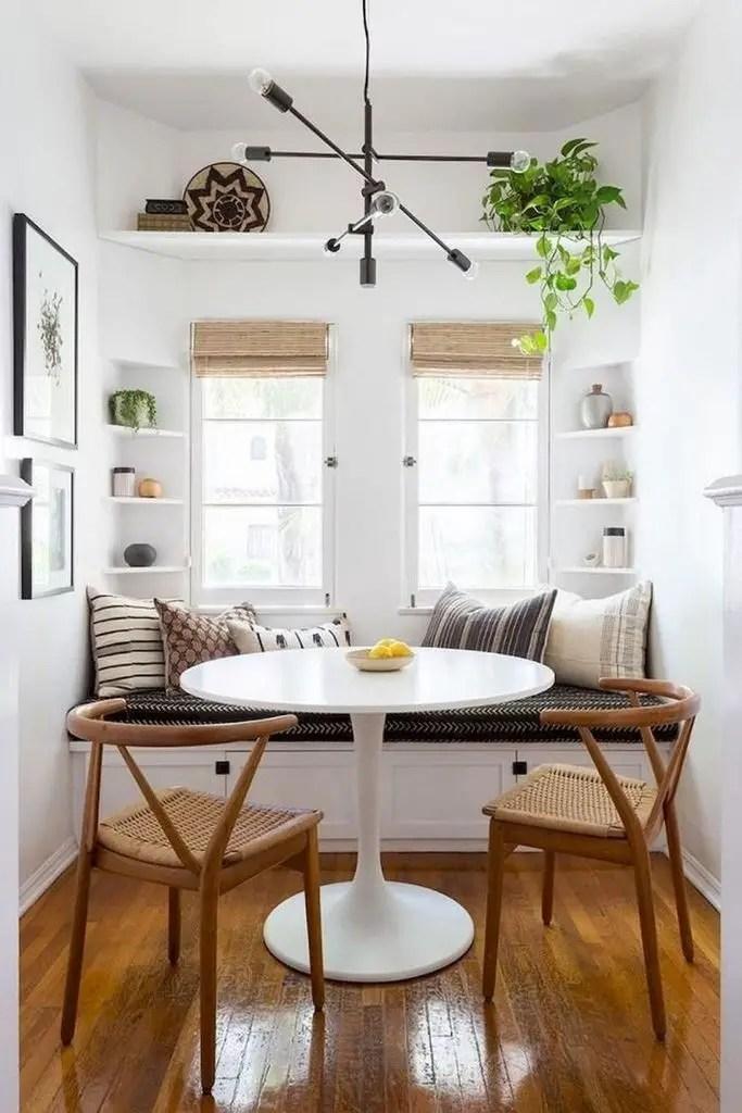 Small shelf beside the windows