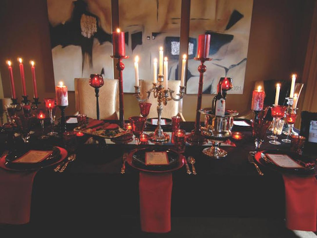Vampire theme with classic candle holder