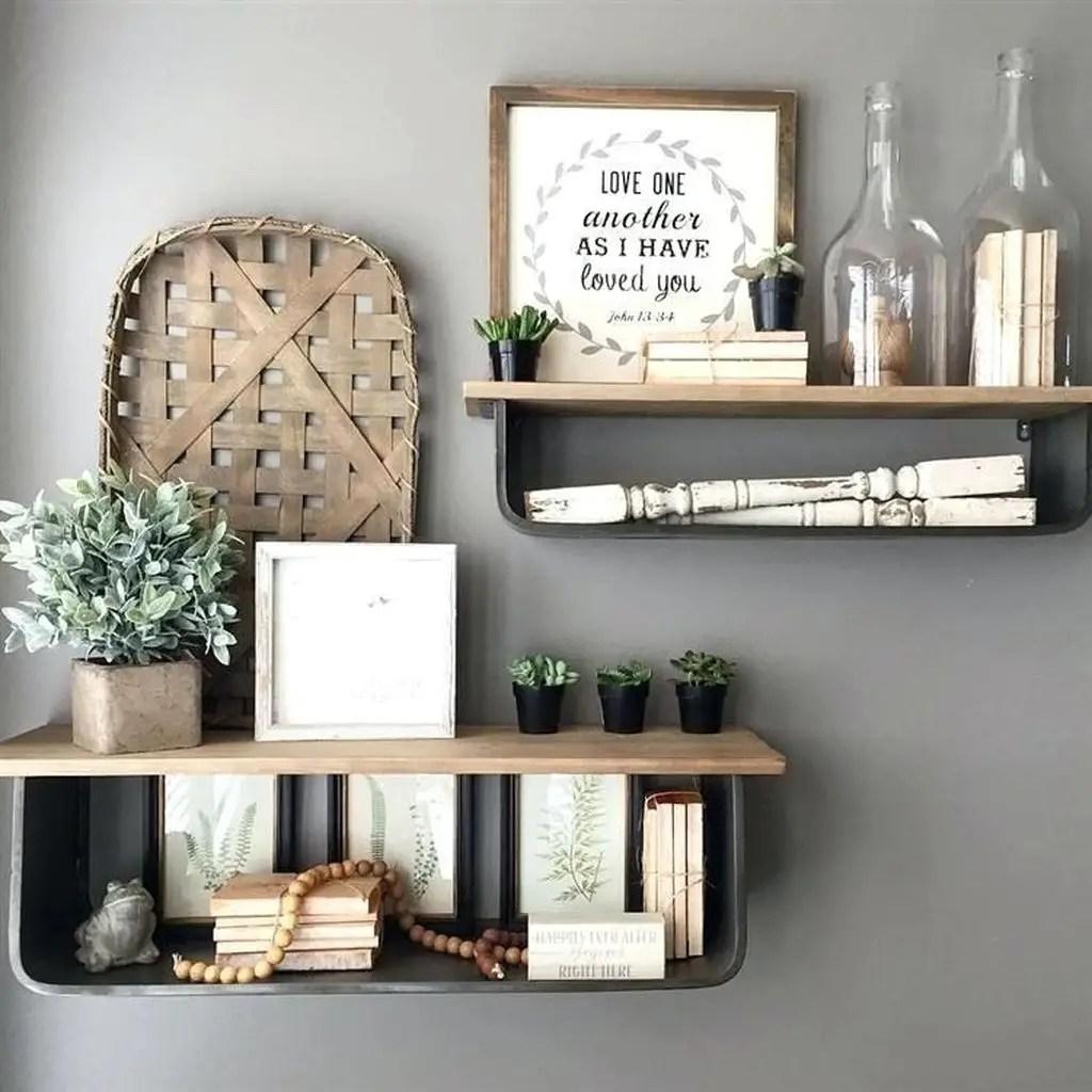 Wall diy shelf decor ideas