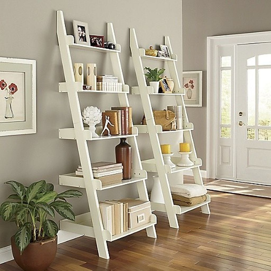 White ladder shelf to perfect your home