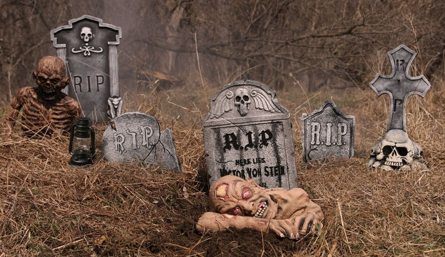 Zombies rise from the grave