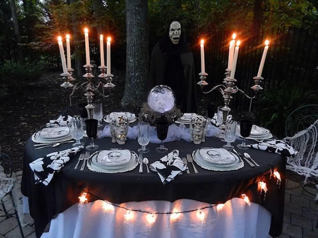 Skulls centerpiece and unique candle holder