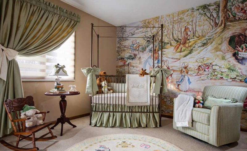 Ancient-natural-murals-and-nature-animals-for-kids-room.