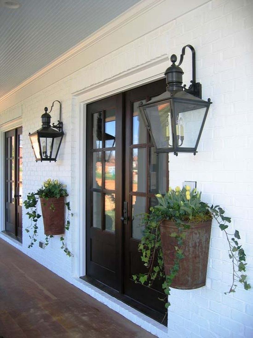 Farmhouse flower planters for front porch