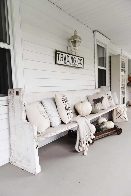 Monochromatic rustic porch