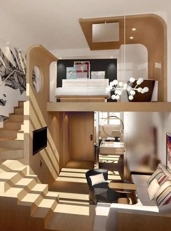 Perfect loft bedroom decoration