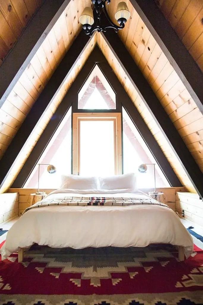 Rustic loft bedroom decoration