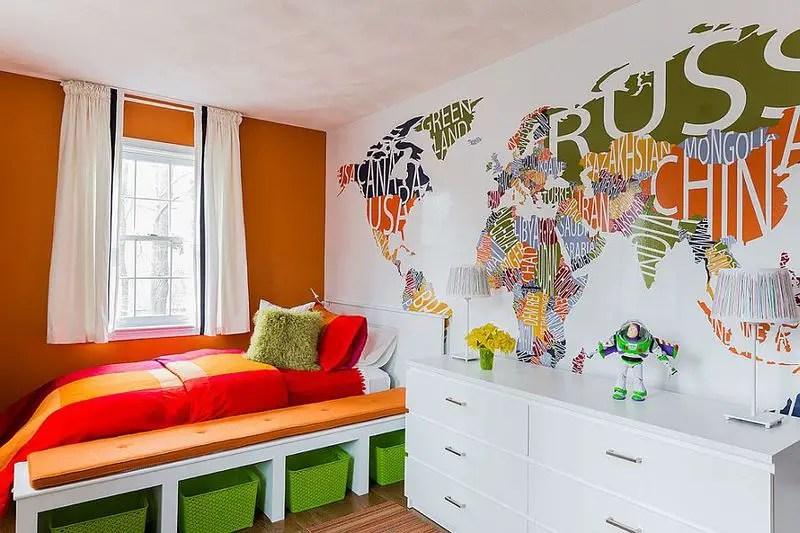 World-map-mural-for-kids-room.