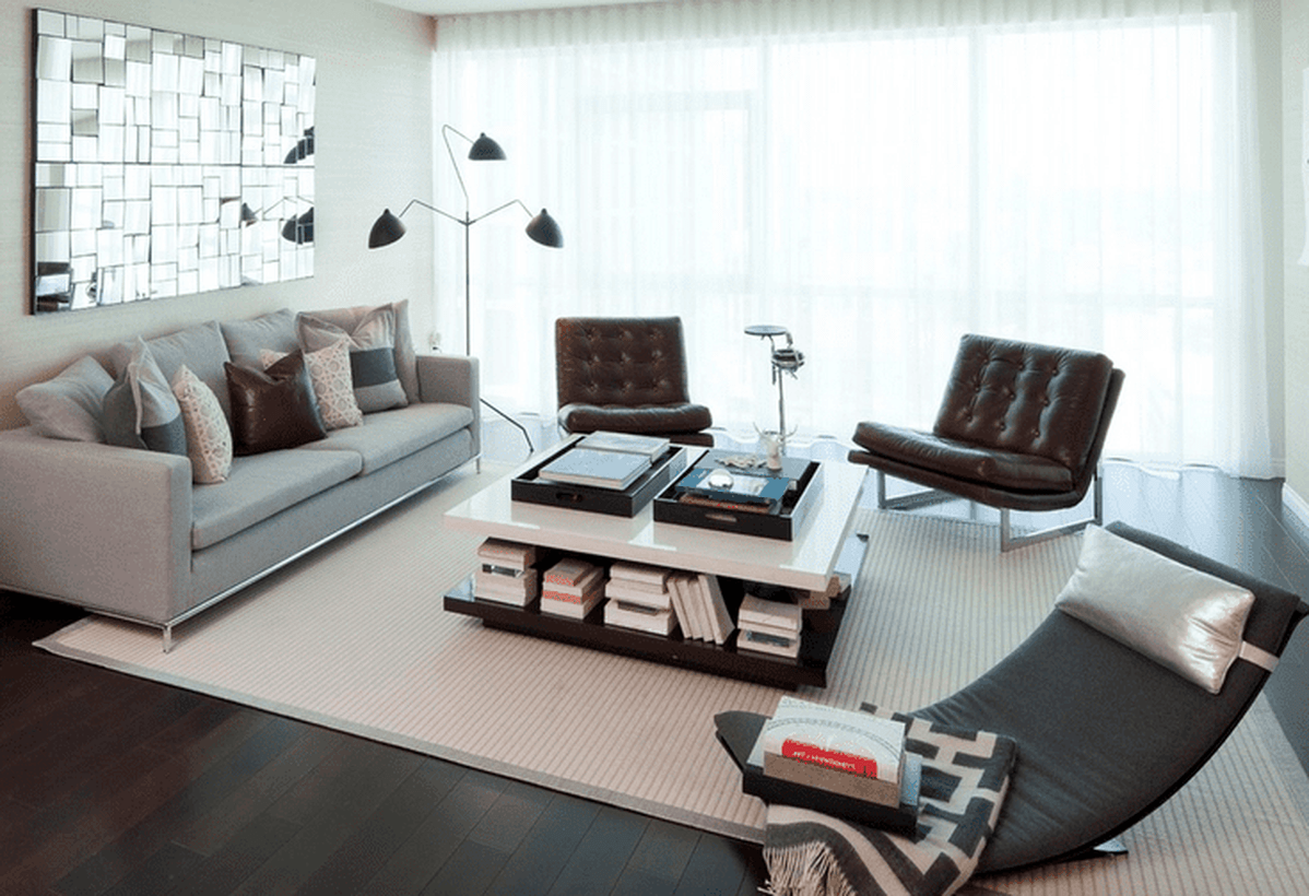Contemporary-living-room-design-with-light-gray-sofa-white-coffee-table-at-the-bottom-to-store-books-and-modern-chairs-to-relax-for-your-inspiration