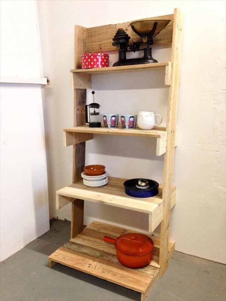 Pallet-ladder-shelving