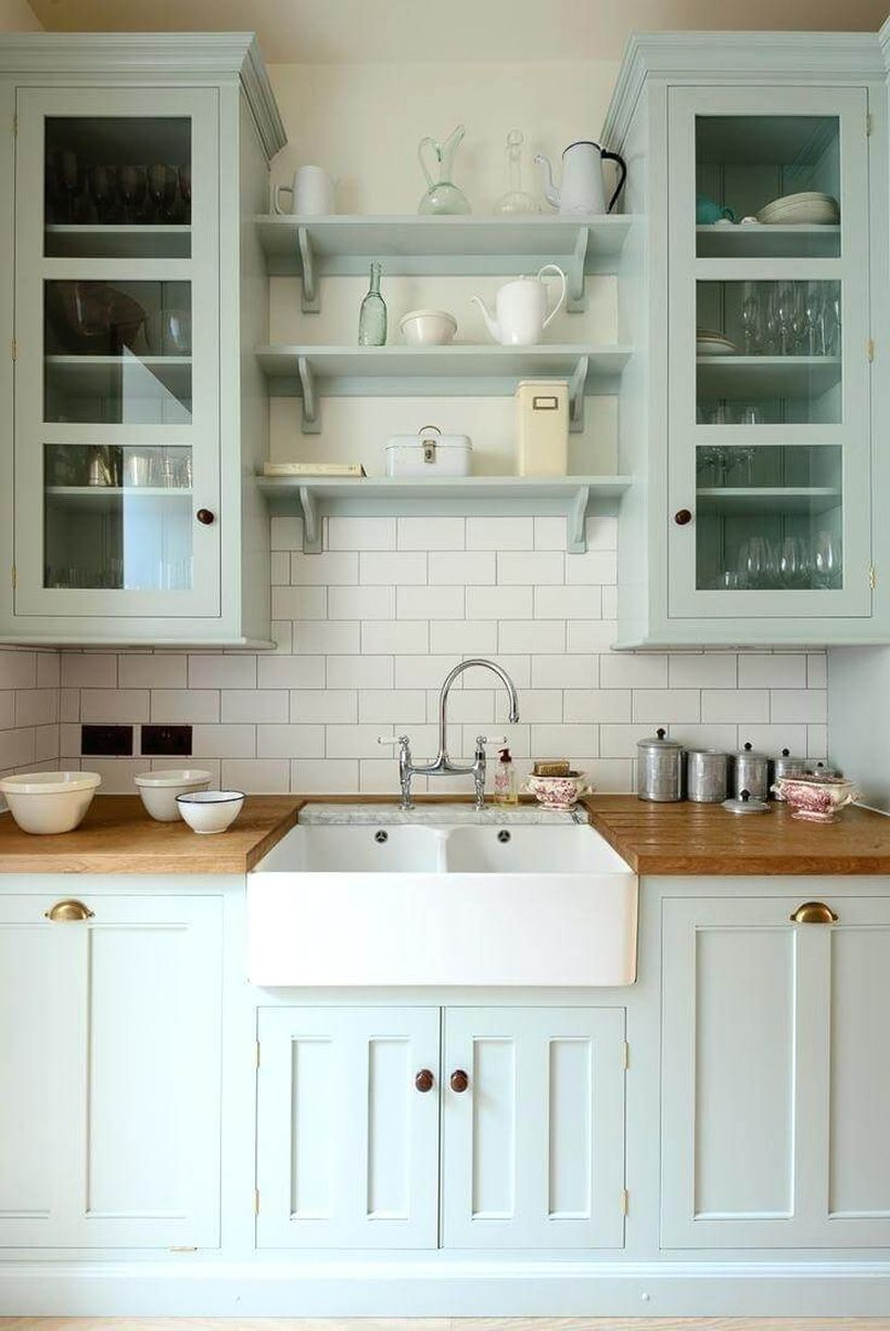 White-kitchen-with-natural-wooden-countertop