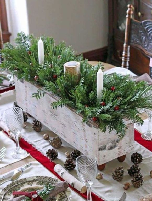 A-plaid-tablecloth-sets-the-scene-for-this-rustic-table-decor.-2