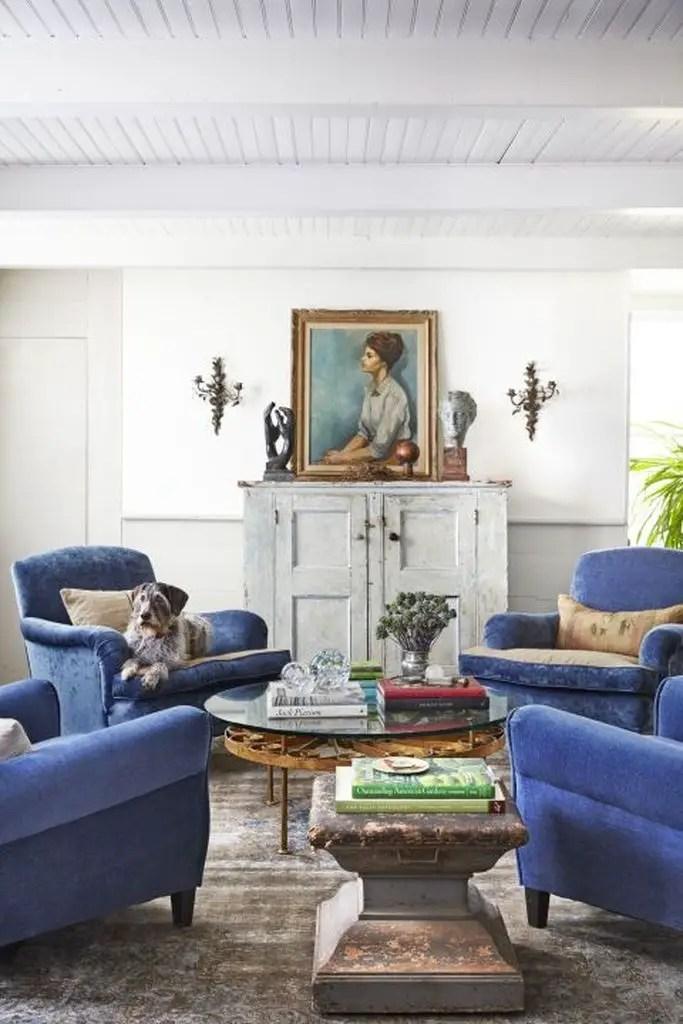 Antique furniture for rustic living room