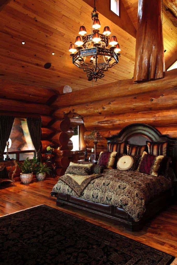 Log cabin style bedrooms 1