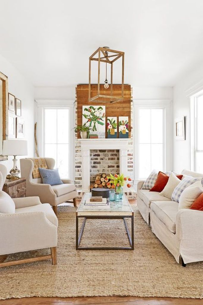 White walls combined with white sofas