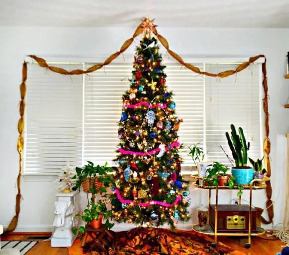 Colorful-whimsical-bohemian-christmas-tree
