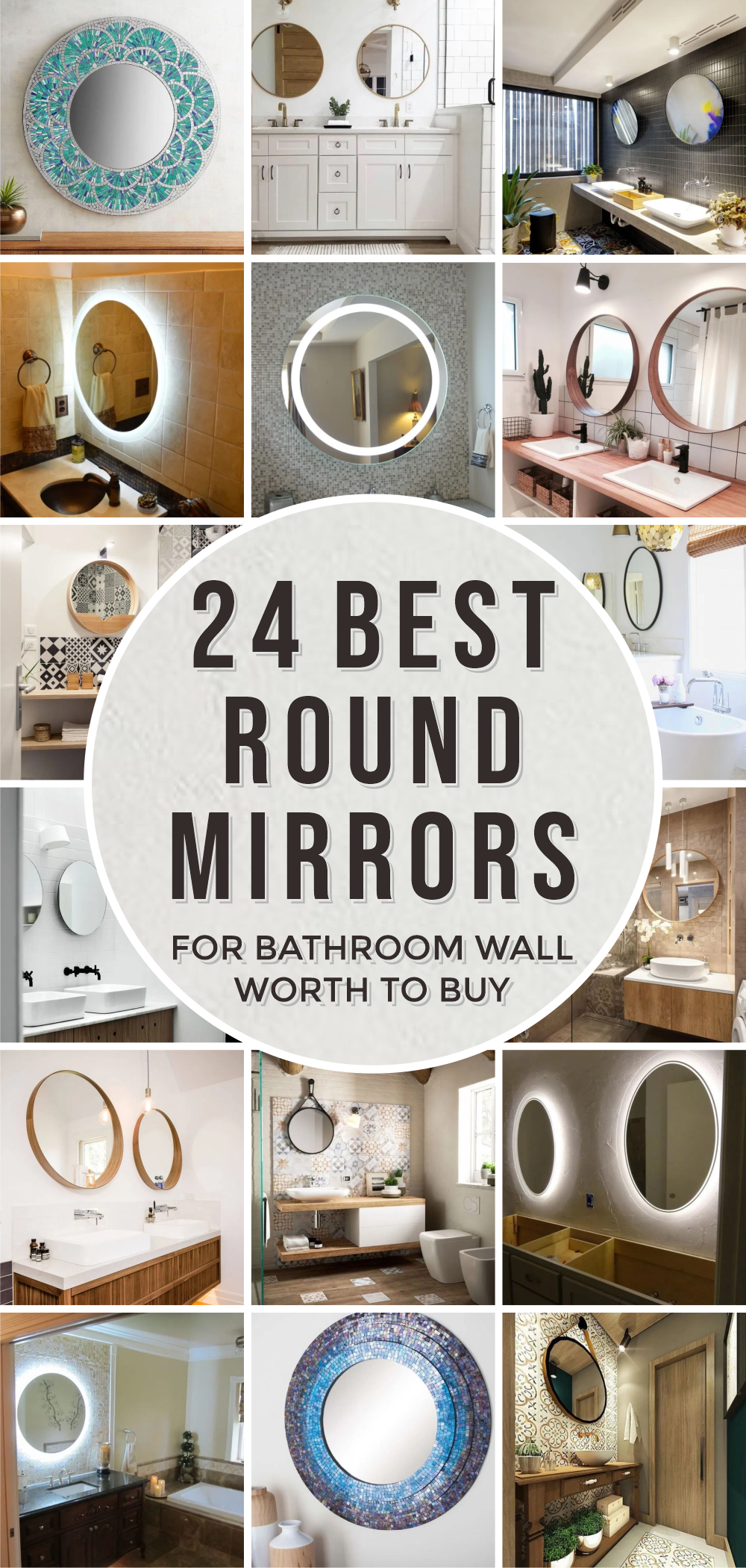 24 best round mirrors for bathroom wall worth to buy 1