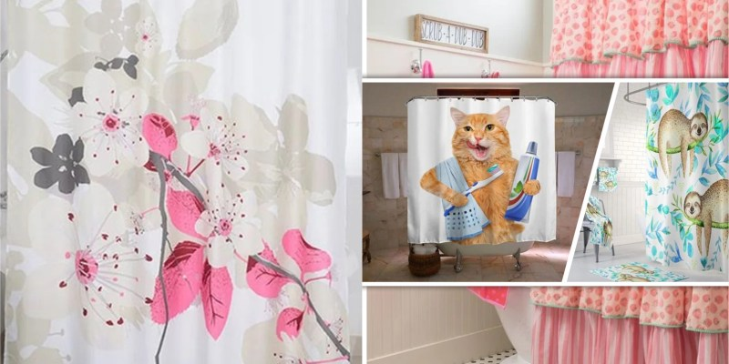 Colourful fall shower curtains for kids bathroom 5