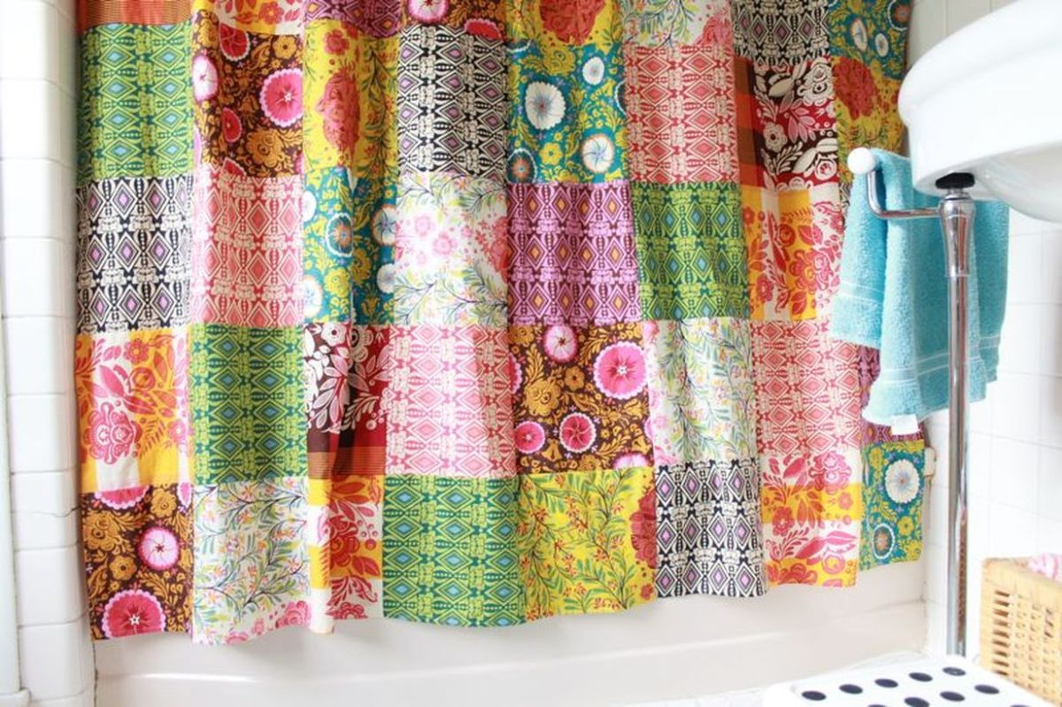 Patchwork-curtains