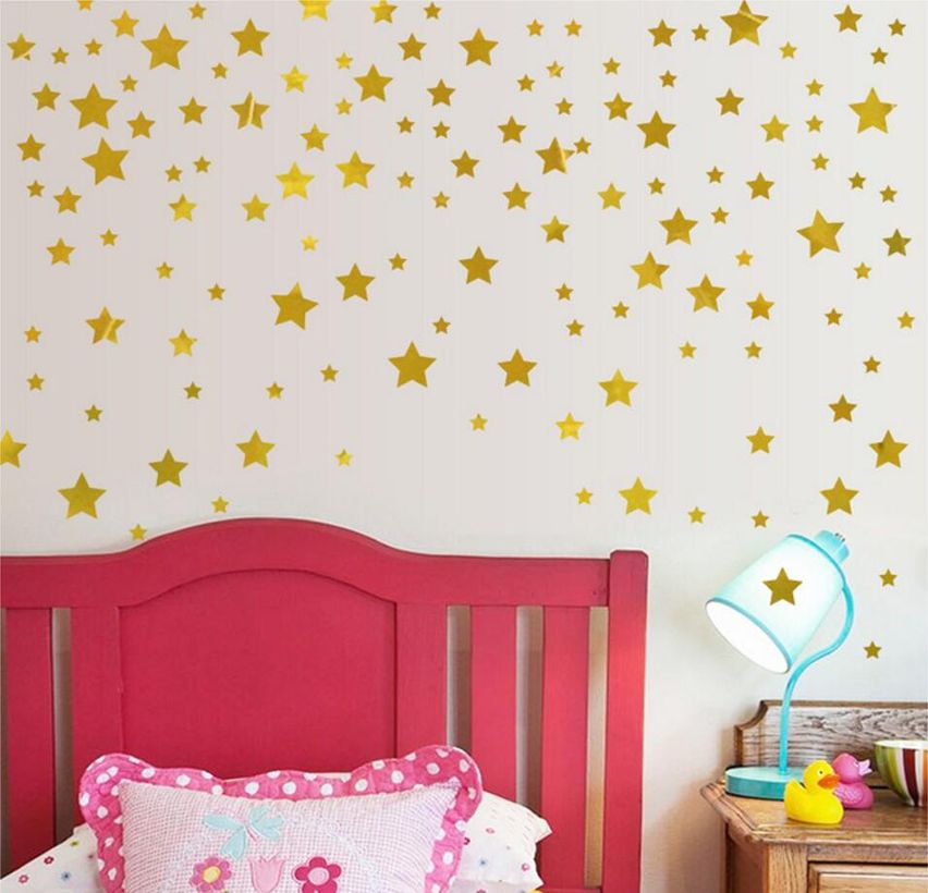 Gold-stars-pattern-vinyl-wall-art-decals-nursery-room-decoration-wall-babymamyhome-1901-07-babymamyhome@5712
