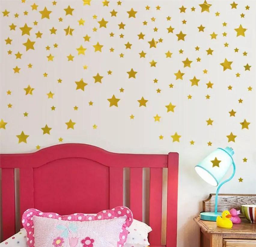 Gold-stars-pattern-vinyl-wall-art-decals-nursery-room-decoration-wall-babymamyhome-1901-07-babymamyhome@5712
